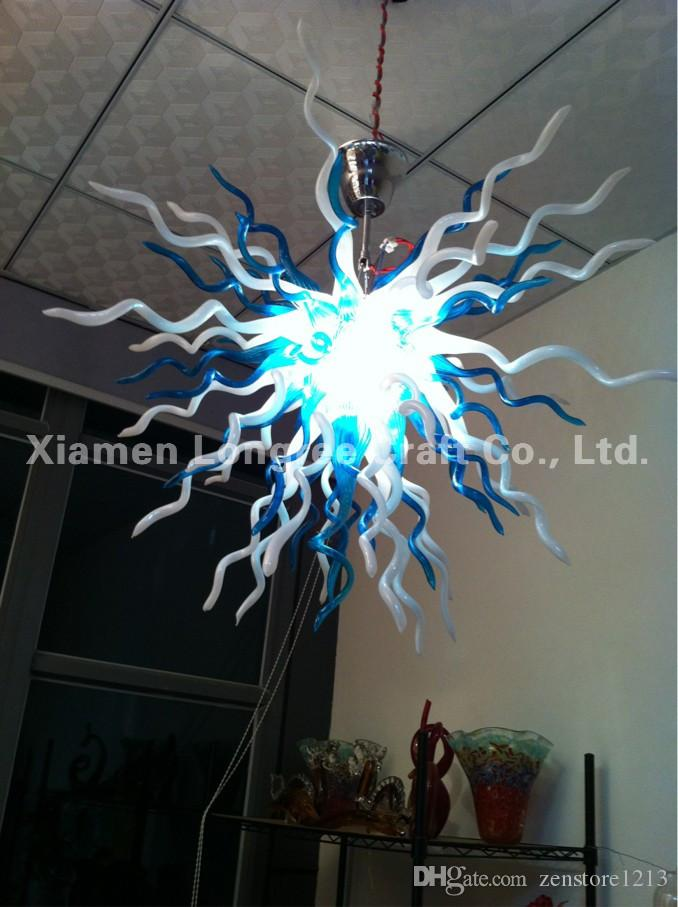 Small and Cheap Glass LED Modern Art Chandelier 100% Hand Blown Murano Glass Ceiling Flush Mounted Hanging LED Chandelier for Home Decor