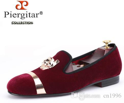 New Fashion Men Party And Wedding Handmade Loafers Men Velvet Shoes ... a45bd2b779a7