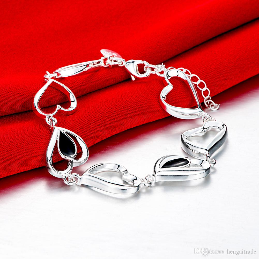 Wholesale 925 Sterling silver plated lobster charm bracelets LKNSPCH559LKNSPCH548