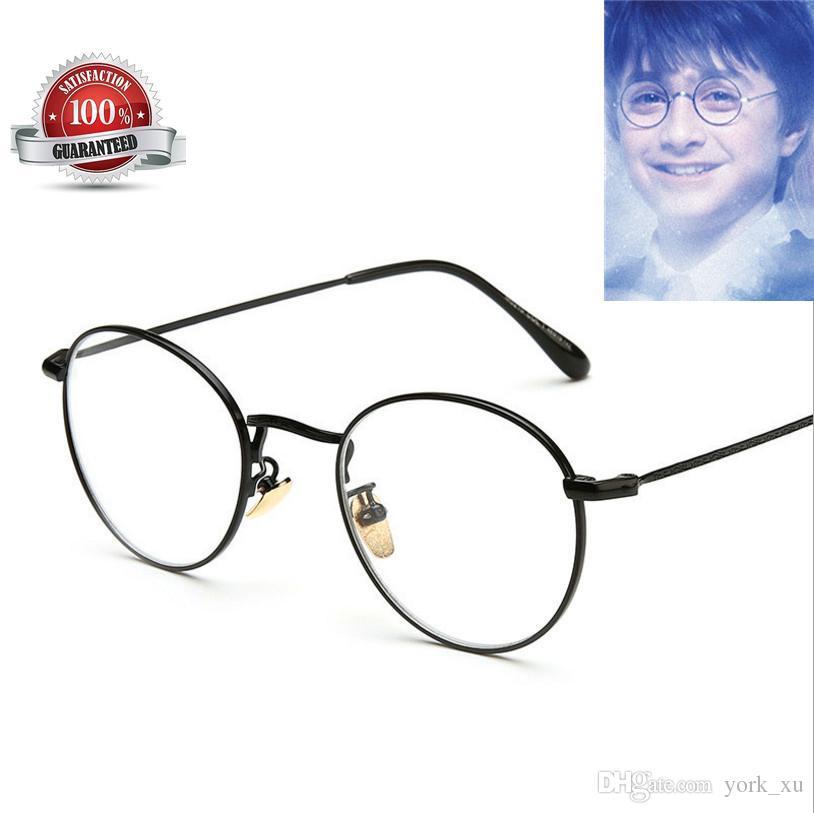 881364ab1a Vintage Harry Potter Glasses Round Eyeglass Frames Halloween Cosplay Harry  Potter Black Gold Silver Plain Mirror Glasses Gls002 Cheap Glasses Frames  Online ...