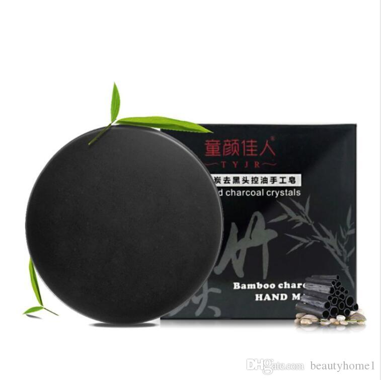 Handmade Bamboo Charcoal Soap Purify Blackhead Deep Clean Carbon Oil Control Soap Face Care Free Shipping