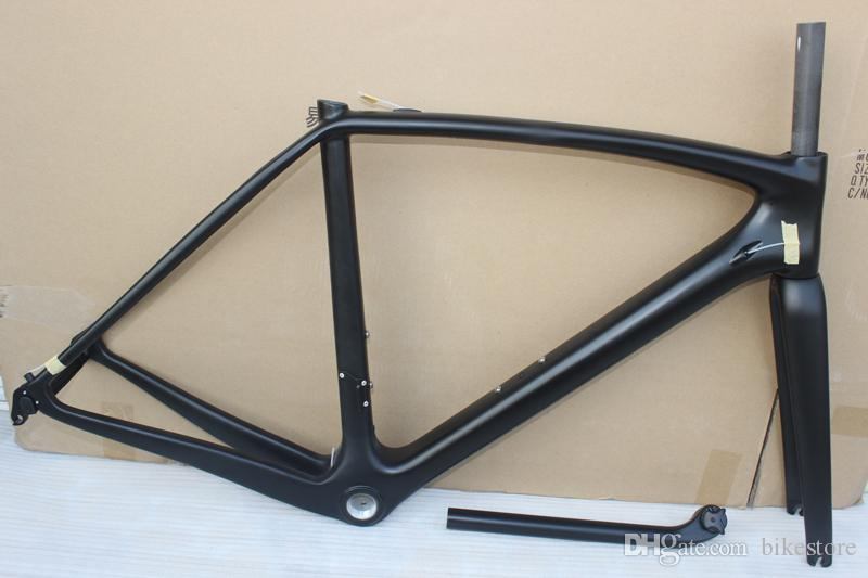 full carbon road frame size 49cm 52cm 54cm 56cm 58cm road bicycle, T1000 carbon frame glossy finish with fork seatpost headset