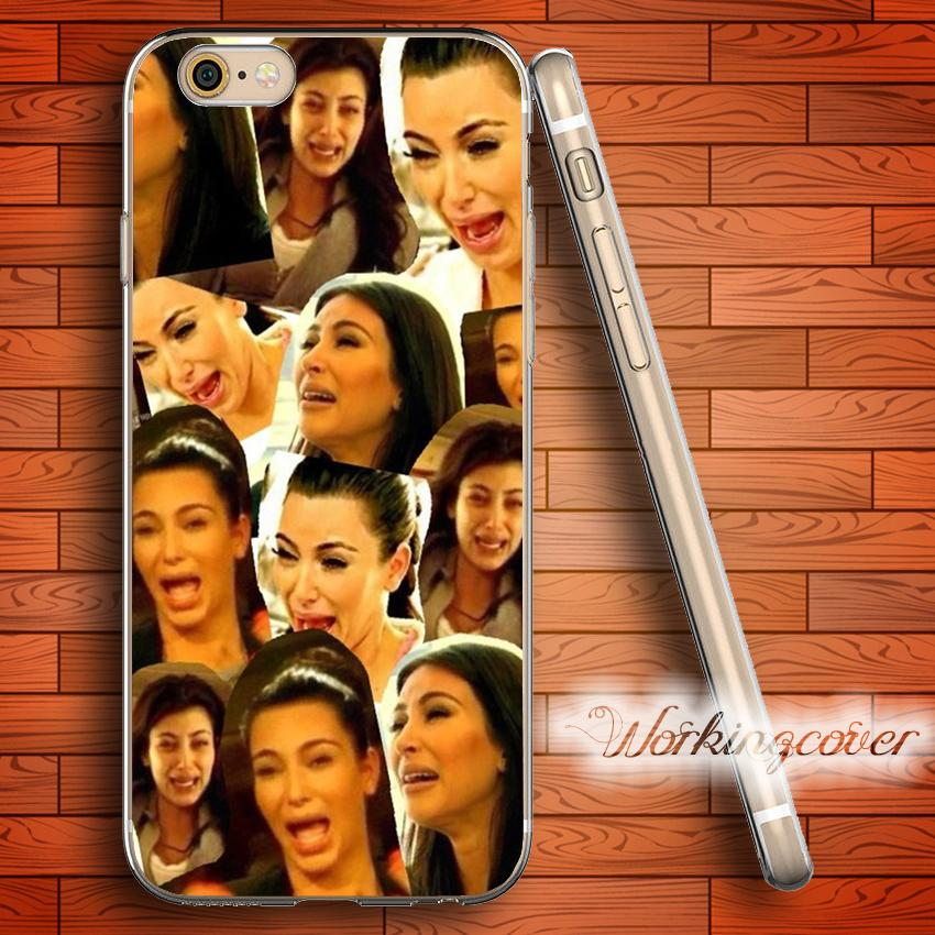 new arrival 45dc4 ee3be Coque Kim Kardashian Collage Soft Clear TPU Case for iPhone 6 6S 7 Plus 5S  SE 5 5C 4S 4 Case Silicone Cover.