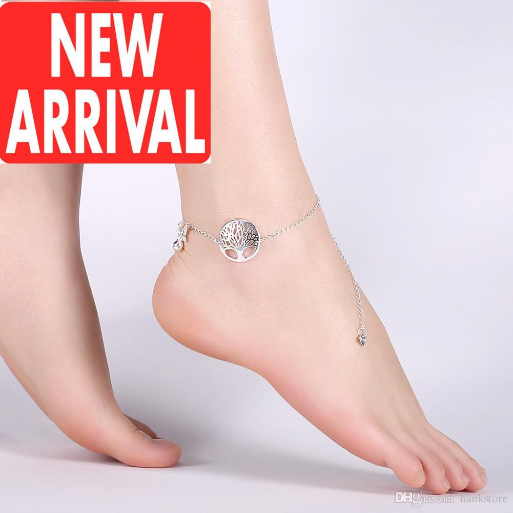 shop bohemian collections shopping new bell jewellery hippie romantic dixi grey anklets silver anklet