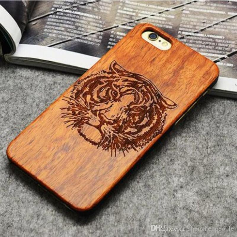 official photos 14c01 3f703 For mobile phone 7 6 6S Plus Wooden Bamboo Case Custom Design Wood  Protective 5s Back Cover smartphone S7 S6 Edge S5 DHL
