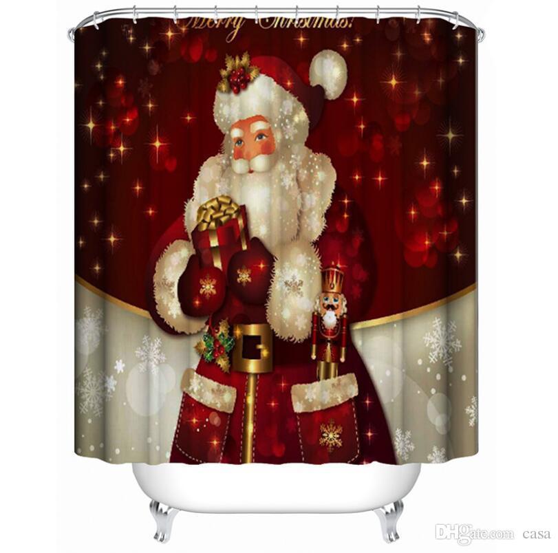 Großhandel Schneemann Duschvorhang Frohe Weihnachten Schläfrig ...
