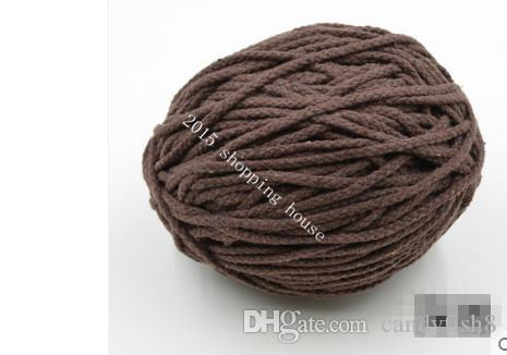 01 Sewing accessories 5MM eight color cotton rope drawstring pants pocket DIY hand woven cotton rope Pocket Cap