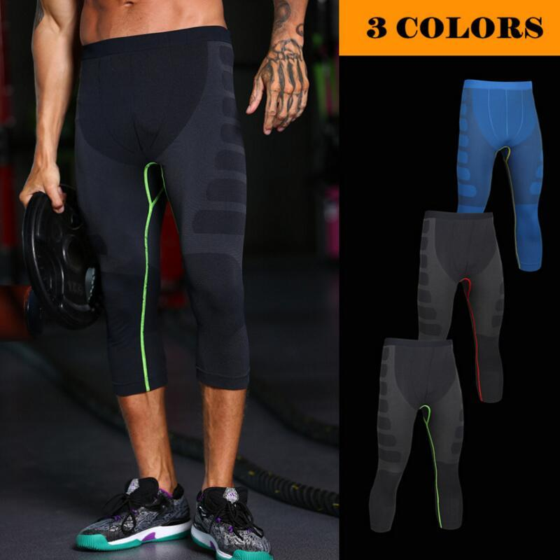 a6cf3ff32 2019 New Men Carry Buttock Leggings Fast Drying Slimming Compression Calf  Length Pants Body Shaper Tights Shapewear From Hlq1027
