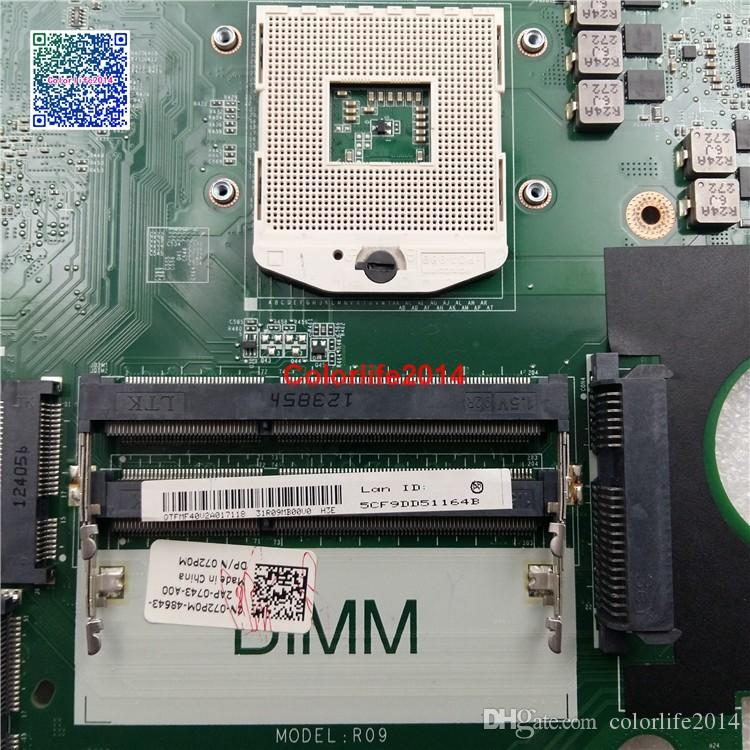 2D 72P0M CN-072P0M HM57 DA0R09MB6H1 For Dell Inspiron 17R N7720 7720 Motherboard with Discrete Video Card GT650M fully tested