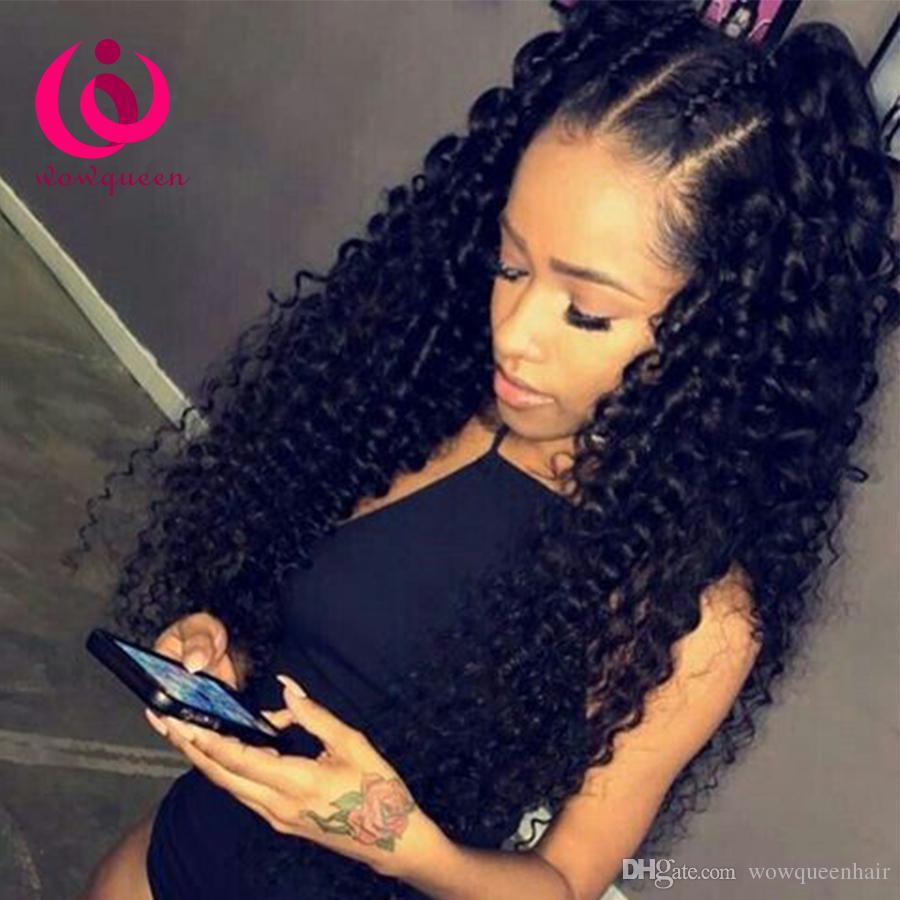 Brazilian Deep Wave Kinky Curly Human Hair Weave Bundles 8a Peruvian