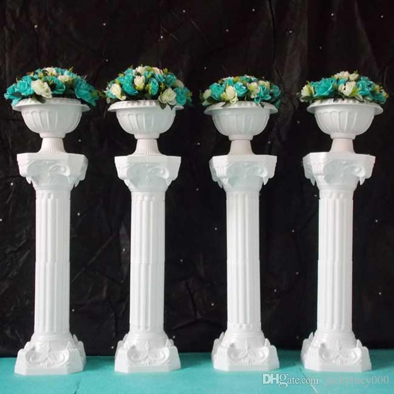 39 inch Roman Road Lead Rome Plastic Column Style With Flower And Flower Pot For Wedding Decoration Mall Opened Props