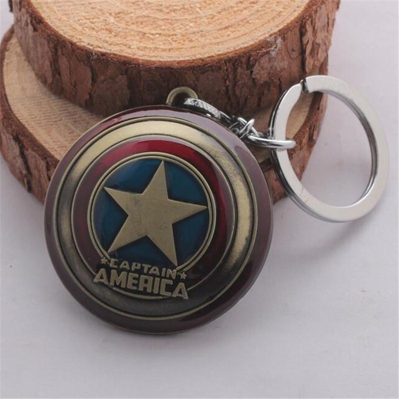 Moive Os Vingadores Capitão América Escudo Chave Anéis Liga Chave Do Carro Anéis chaveiro Jóias Para O Presente