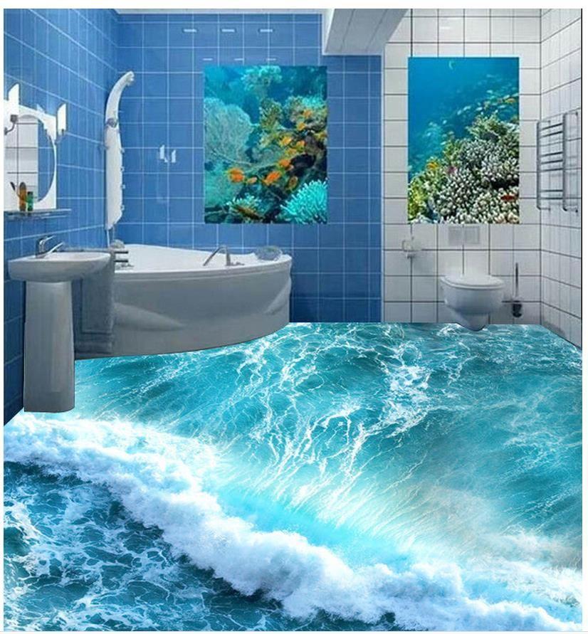 Top Classic 3d European Style 3d Ocean Floor Waterproof