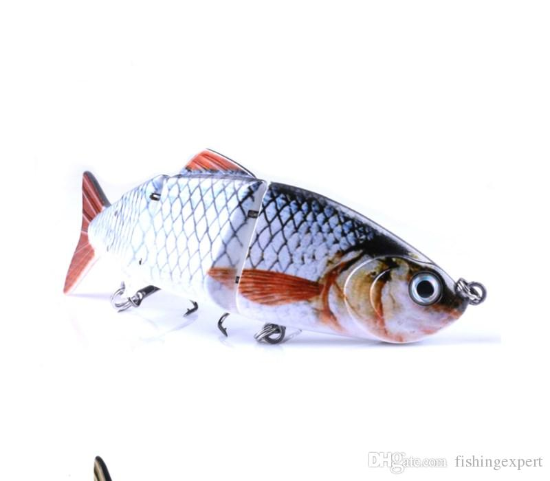 High End 3D Eyes Fishing Lures 10cm Lifelike Rattlin Baits 16.8g Plastic Fake Fishing Baits or Multi-section Hard Lure for Saltwater
