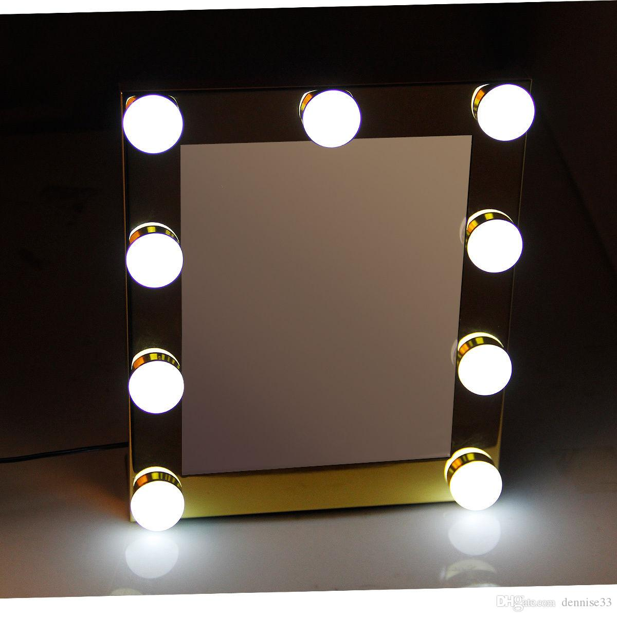 2017 Hot Sale Hollywood Cosmetic Makeup Mirror Bathroom With Bulbs Led For Woman Mirrors Lights From