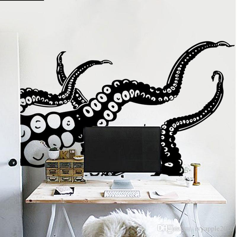 wall mount swimming octopus tentacles key hook 6 tentacle hooks