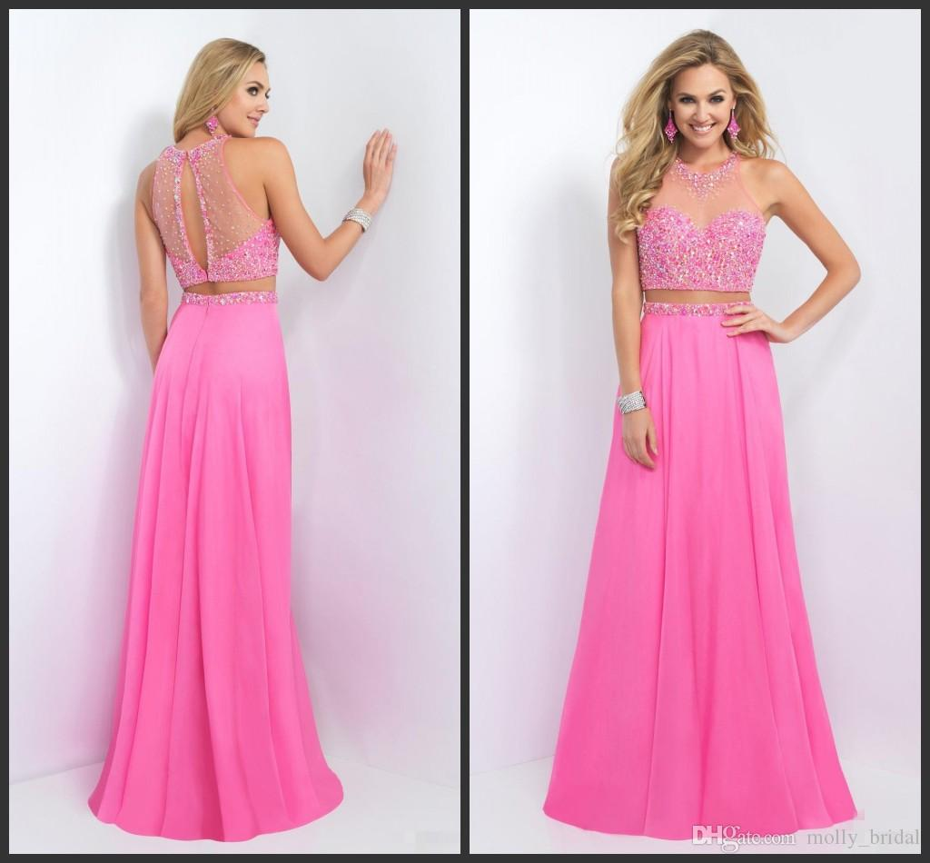 Compre Crystasl Sequin Bling Prom Dress Largo Rebordear Backless ...