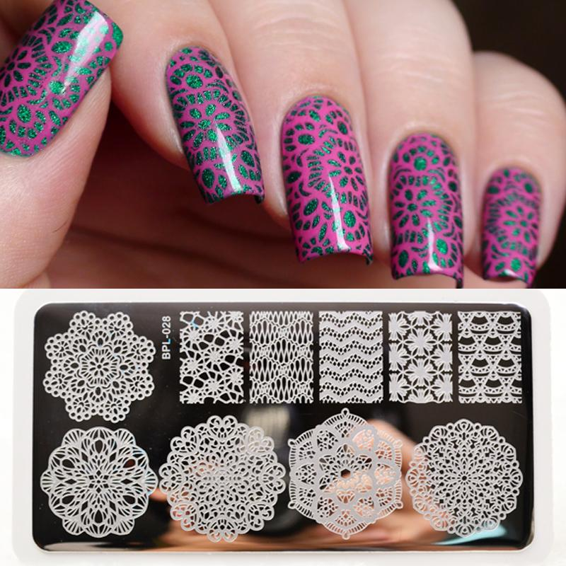 Wholesale Born Pretty Lace Chevron Nail Art Stamping Plates Nails ...