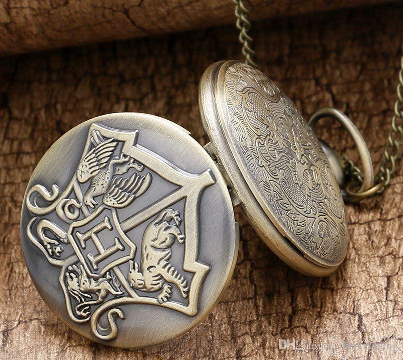 Orologio da tasca vintage da uomo in bronzo antico PW076