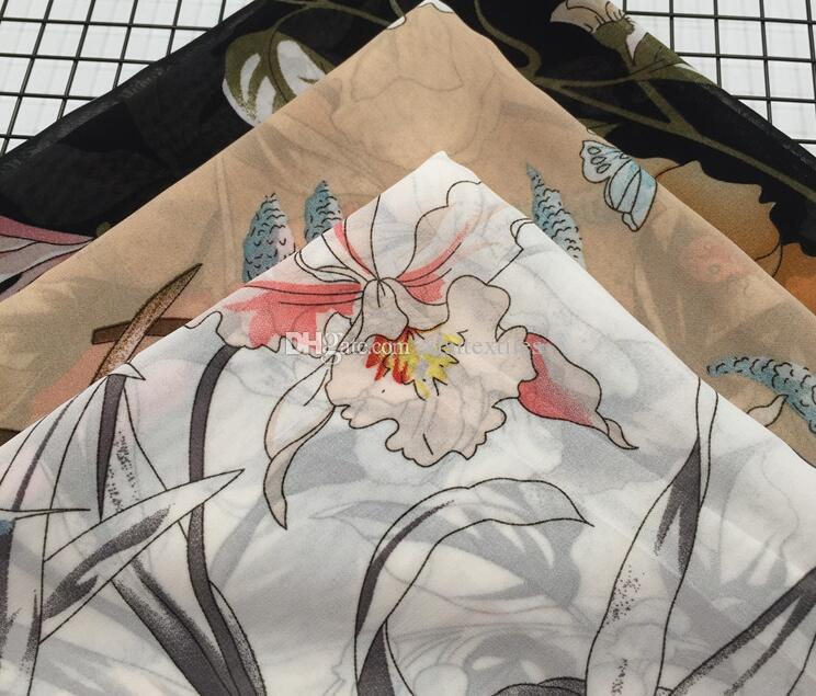 wholesale 3colour butterfly chiffon tulle fabrics Wedding dresses, print satin floral tweed cheap-silk shirt lace fabric scrapbooking B742