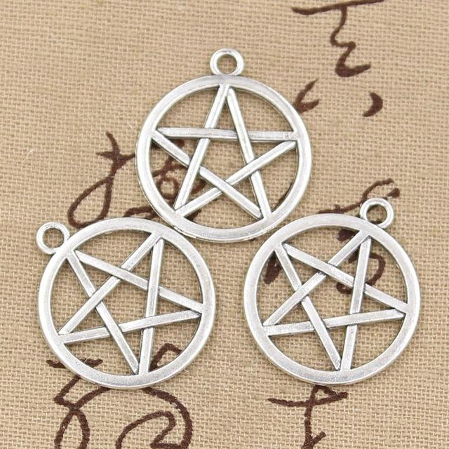 Wholesale 99Cents Charms Star Pentagram 2424mm Antique Making Pendant FitVintage Tibetan SilverDIY Bracelet Necklace Charm Monster Jewelry Malaysia