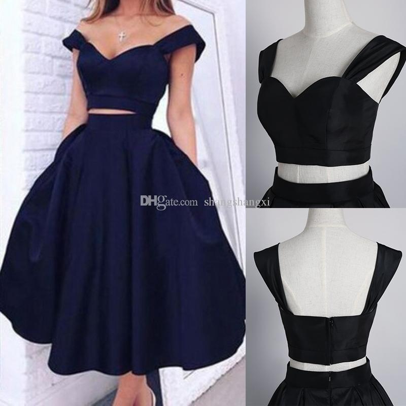 prom dresses tea length 2018