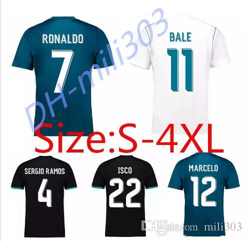 2017 2018 Tamaño Más Grande Xxl Xxxl Xxxxl Fútbol De Madrid Real Jersey 17  18 Ronaldo Benzema Bale Sergio Ramos Morata Isco S 4xl Camisetas De Fútbol  Por ... c79101cffcb8e