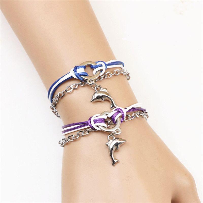 New Fashion Heart-shaped Key Charm Bracelet Couple Lover Alloy Bracelets for Valentine's Day Jewelry Cheap Wholesale