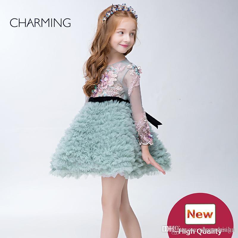 392c25ae371fb Satın Al Küçük Kızlar Önlük Yüksek Kalite Tasarımcı Çocuklar Elbiseler  Çiçek Kız Pageant Elbise Için Elbiseler Çin Toptancılar, $185.74 |  Dhgate.Com'da