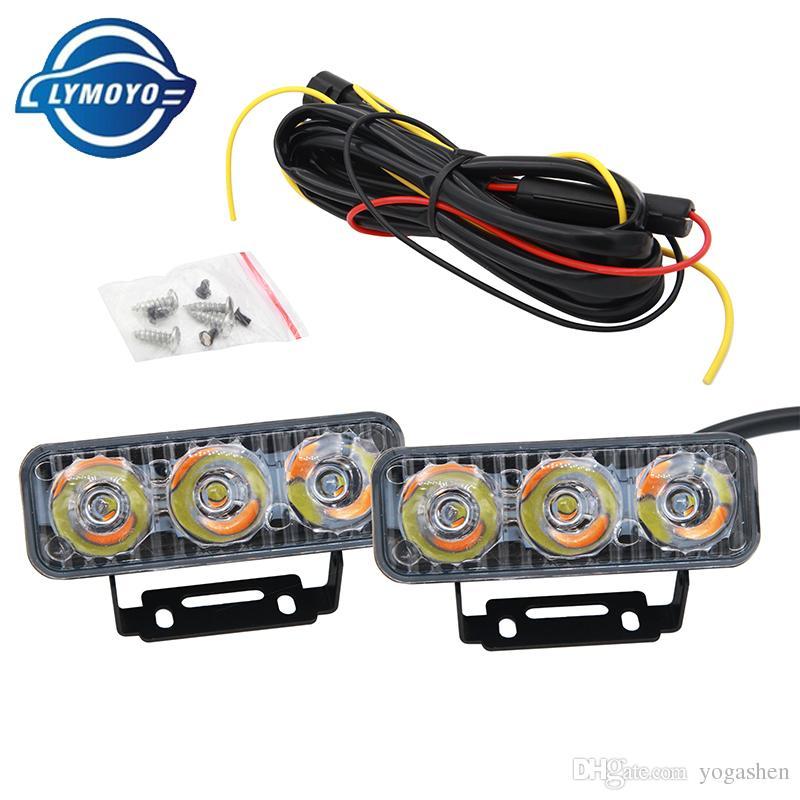 LYMOYO Car LED Turn Signal DRL 9W Daytime Running Turn Lights Fog ...