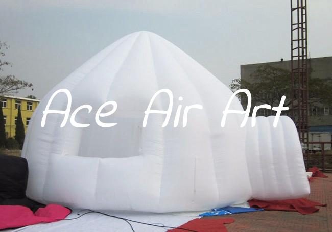 air supported inflatable igloo dome kisok white inflatable tent product,stall conces for yard sale with custom logo with a door and a window