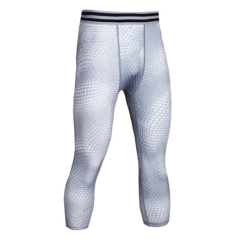 Männer Pro Compress Quick Dry Cropped Run 3/4 Enge Hose Zug Bodybuilding Legging Yoga Gym Übung Fitness Workout Sport