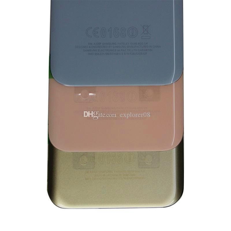 OEM Новая Задняя Крышка Батарейного Отсека Корпус Двери + Клей Для Samsung Galaxy A3 A320 2017 A5 A520 A7 A720 Задняя крышка корпуса 100 ШТ.