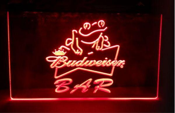 2019 Budweiser Frog Bar Beer NEW Carving Signs LED Neon Sign Home Decor Crafts From Diaoxiangfei 1189