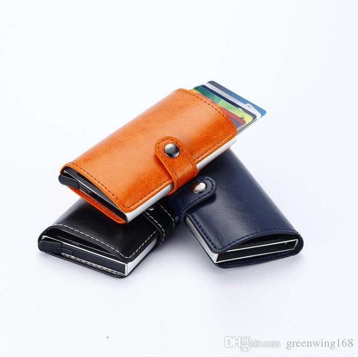 Multi function automatic pop up credit card holder men women multi function automatic pop up credit card holder men women business aluminum leather card case purse organizer wholesale handbags from greenwing168 colourmoves