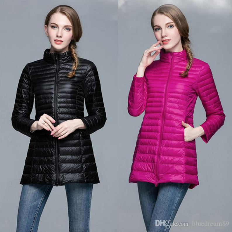 a8285482bb4e8 2019 New Thin Down Coat Plus Size Women Winter Clothing Long Designer Coats  Woman Korean Fashion Warm Canada Down Winter Jackets For Women From  Bluedream89
