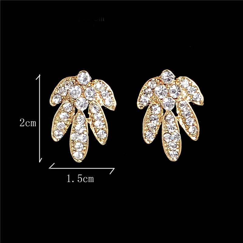ZOSHI Moda Bling Kristal Çiçek Takı Stes Marka Kadın Küpe Kolye Takı Seti Kadın Toptan Düğün Takı Için