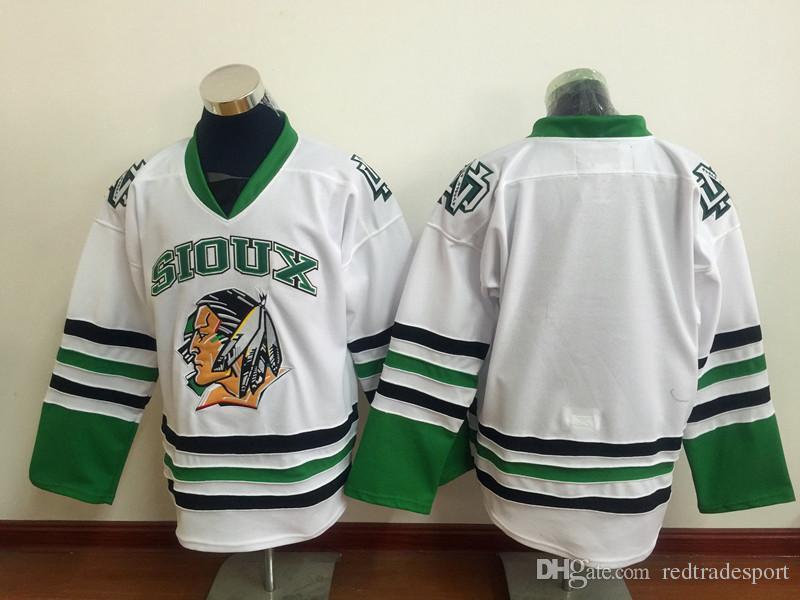 Herren Vintage North Dakota Kämpfe Sioux College Hockey Jerseys 9 Jonathan Toews 11 Zach Parise 7 TJ Oshie University Nähte Trikots