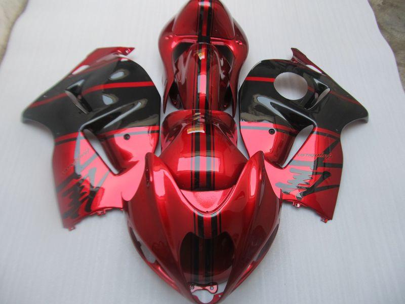 Nieuwe Hot Fairing-kits voor Hayabusa GSX1300R 1909-2007 GSX-R1300 Red Fairing ZZ491