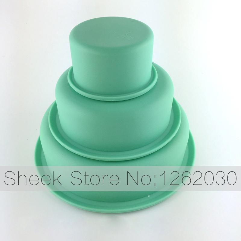 Online Cheap Wholesale 3 Layer Round Birthday Cake Pans Platinum
