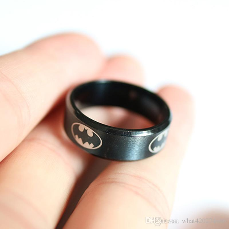 Men Cool Ring High Polish Stainless Steel Batman Ring for Men Top Grade Jewelry Accessories New Arrival Superhero Series Rings