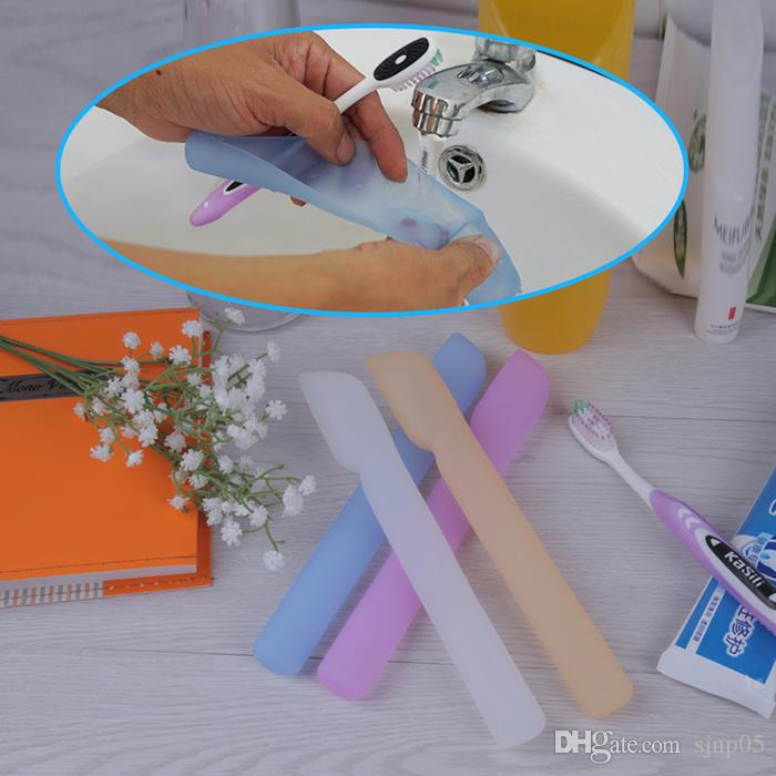 Silicone Toothbrush Protective Case Holder Cover Soft Toothbrush Storage Box Portable Dust-proof Container for Home Outdoor Travel