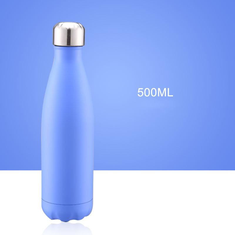 CA/USA/UK Free 17oz 500ml Cola Shaped Bottle Insulated Double Wall Vacuum high-luminance Water Bottle Creative Thermos bottle Coke cup
