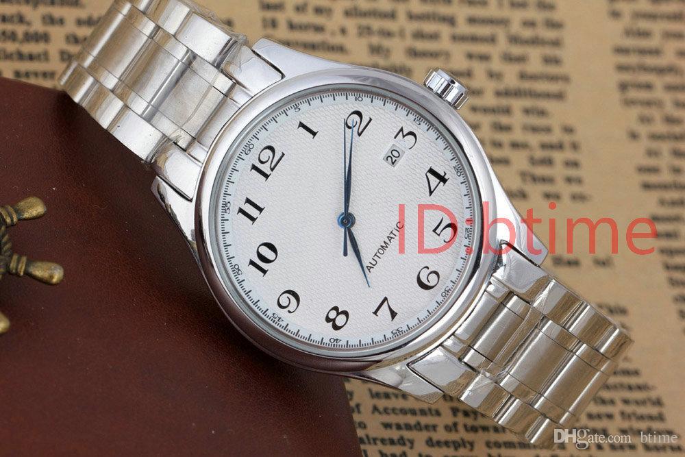 패션 기계는 2813 오토매틱 무브먼트 남성 시계 사파이어 스테인레스 스틸 팔찌는 가죽이보세요, bTime 시계 손목 시계