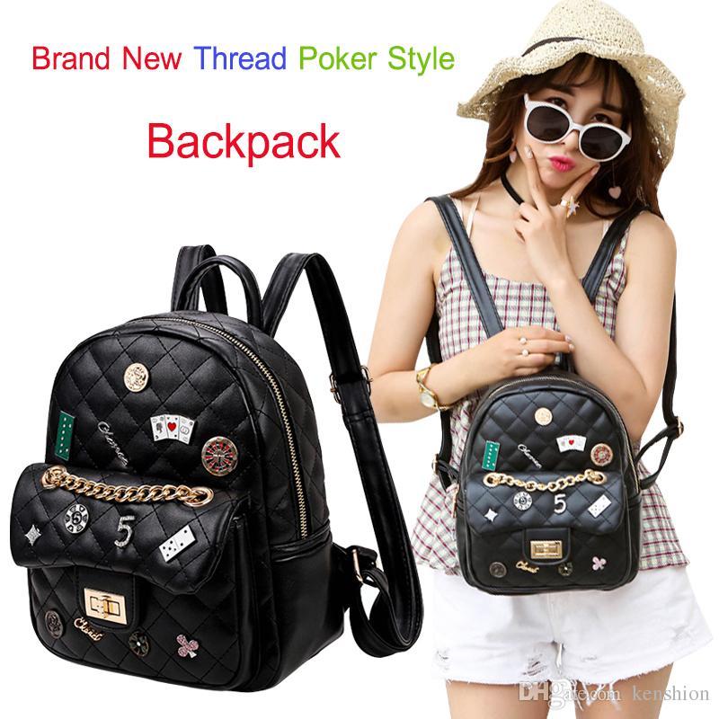 2017 Brand Quilted Poker Backpack Satchel Digital 5 Star Cartoon Joker  Floral Handbags Women Purse Ladies Double Shoulder Back Pack X8869 Ogio  Backpack ... d125fe028ccd4
