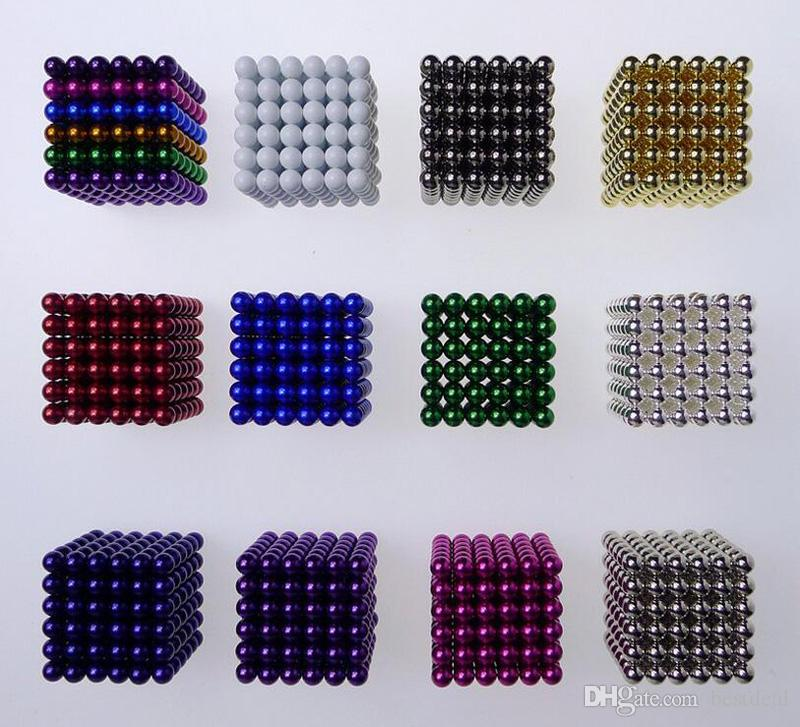 Colorful 5mm neo cube magic neodymium beads magnet cube puzzle magnetic balls decompression Neokub toy birthday present for kids