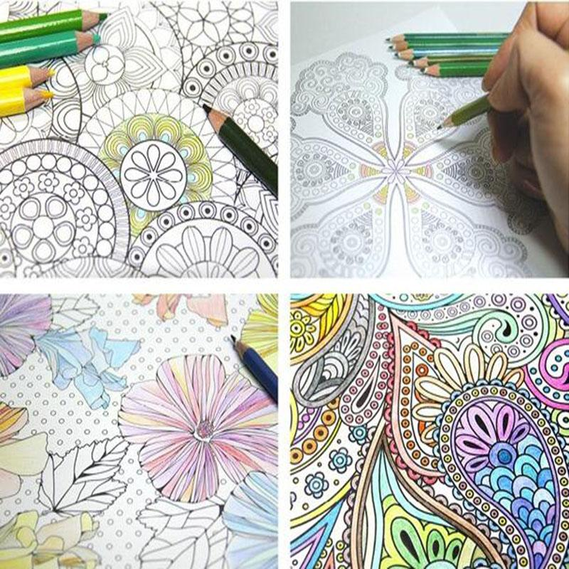 4 Different Models Batch Page 24 Flower Mandala Coloring Book
