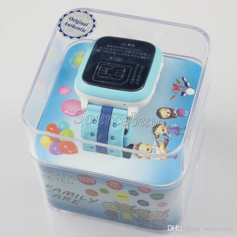 Crianças Crianças Relógio Inteligente DS18 IP65 À Prova D 'Água Tela TFT de Vidro Temperado SOS GPS LBS Localização Rastreamento Do Bebê Relógios Do Bebê Wifi Slot Para Cartão SIM