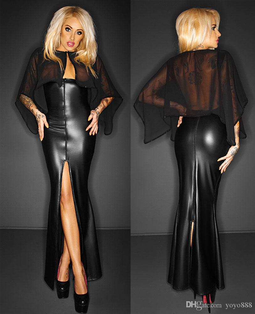 leather Fetish dress goth