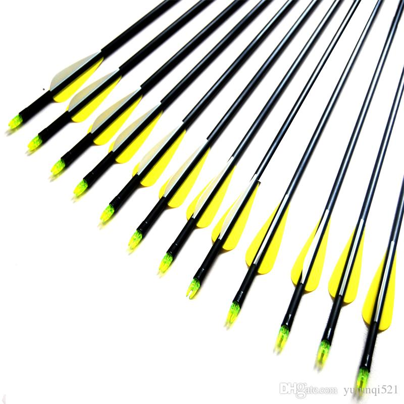 Fiber Glass Shaft Arrows 8mm Practice Archery Arrows with Points for Recurve Bow & Compound Bow